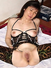 Glamorous asian hellcats are covered with cum