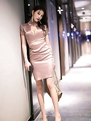 Wondrous satin dress and tights
