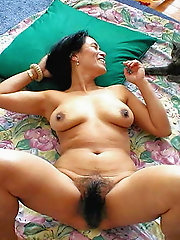 Furry korean Andrea get her pubic hair pulverized